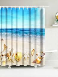 Snowman Shower Curtain Target by Sea Beach Shell Print Nautical Waterproof Shower Curtain Sky Blue
