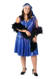 plus size blue flapper costume 1920s flapper costumes