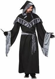 wizard costume wand mystic sorcerer gothic evil warlock wizard robe size
