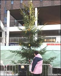 news uk festive tree an insult to town