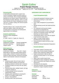 cv for project manager sample it project manager resume samples visualcv database inside