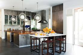 industrial style kitchen island metal kitchen cabinets eclectic kitchen nate berkus design