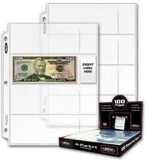 1000 pocket photo album of 1000 bcw 3 pocket currency album pages dollar bill coupon