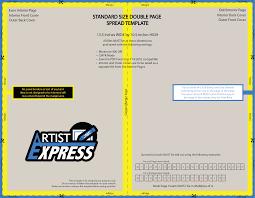 standard size double page spread template artistexpress net