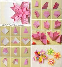 How To Make Easy Paper Flowers For Cards - origami paper flowers rose diy tutorial easy for children origami
