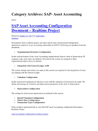 asset accounting in sap fico module depreciation debits and
