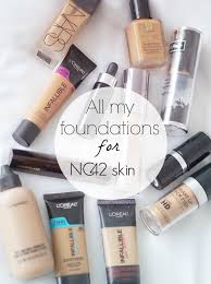 all of the foundations from other brands that work for nc42 skin