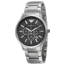 armani steel bracelet images Emporio armani men 39 s ar2460 sportivo chronograph black dial steel jpg