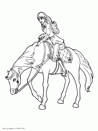 barbie sisters pony tale coloring pages