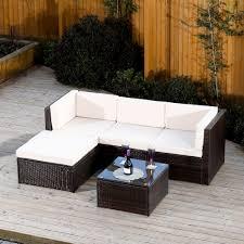 rattan corner sofa rattan 5 corner sofa in brown or black abreo home