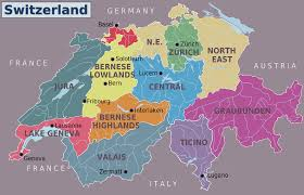 Map Of Germany And Surrounding Countries by Big Large Size Switzerland Political Road Map And Flag U2013 Travel