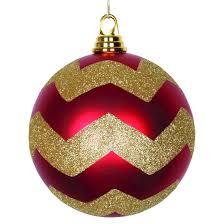 6 gold matte glitter chevron ornament target