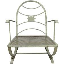 Vintage Woodard Wrought Iron Patio Furniture - vintage wrought iron turtle lounge chair at 1stdibs