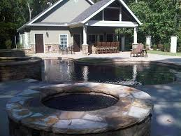 Stacked Stone Outdoor Fireplace - outdoor fireplaces fire pits natural stone outdoor kitchens