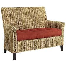 Outdoor Wicker Settee Cushions by Sonita Banana Wicker Settee Pier 1 Imports