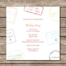 passport stamp bridal shower invitation perfect for travel or