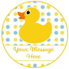 duck decorations 24 icing cake decorations personalised rubber duck baby shower 1st