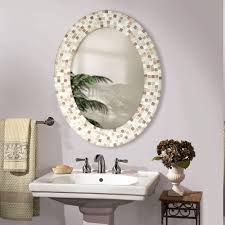 charming unique bathroom mirrors with mosaic tile frame also