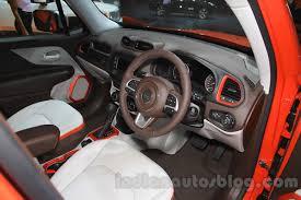 jeep renegade orange interior jeep renegade limited interiors at the indonesia international