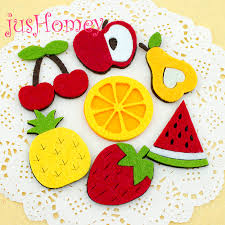100 pcs non woven fabric fruit slice patches die cut felt