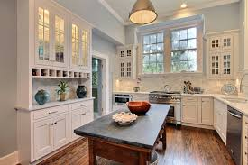 white cabinets with blue countertops small kitchen ideas