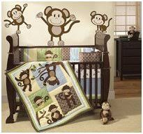 Boy Monkey Crib Bedding Baby Boy Bedding That Is Mint Green Brown And Baby Blue Blue
