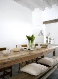 wooden kitchen table with bench foter