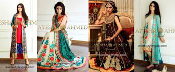 ayesha ahmed formals party wear dresses designs 2017 18 collection