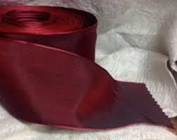 burgundy wired ribbon wired ribbon etsy