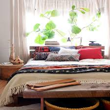 decorating the bedroom with plants or a botanical theme bedroom with houseplants