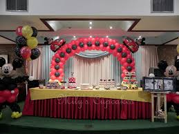 mickey mouse party disney mickey mouse themed birthday party dessert table disney