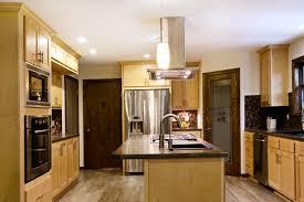 Laminate Floor Layout Cream Wooden Kitchen Cabinet And Black Granite Kitchen Islands Top