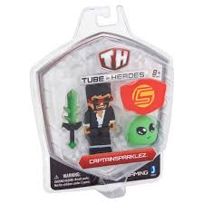 captainsparklez jerry tube heroes gaming captainsparklez action figure 8 walmart com