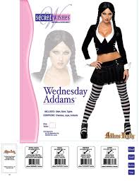 amazon com addams family secret wishes wednesday addams costume