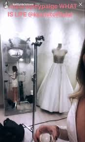 wedding dress captions kaitlyn bristowe says she tried on wedding dresses all day