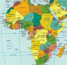 africa map states countries and capitals africa facts