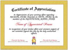 Certificate Appreciation Template editable certificate of appreciation template exle with