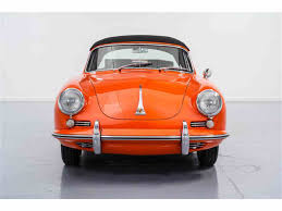 orange porsche convertible 1965 porsche 356 c cabriolet for sale classiccars com cc 978324