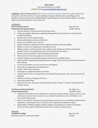 Example For Hospital Administration Resume Patient Service Representative Resume Examples Resume For Your