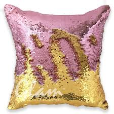 gold gold reversible sequin glam pillow glam pillows
