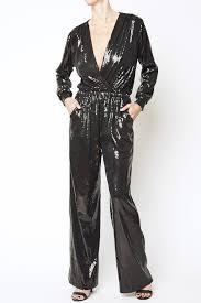 s sleeve jumpsuit black sequin sleeve jumpsuit ripley rader
