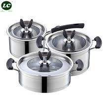 batteries de cuisine batteries de cuisine casserole pots et pan en acier inoxydable 6 pcs