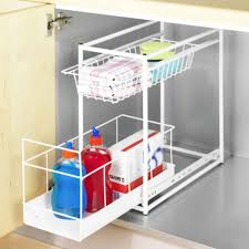 rangement dans la cuisine etagère coulissante autour de l évier rangement cuisine