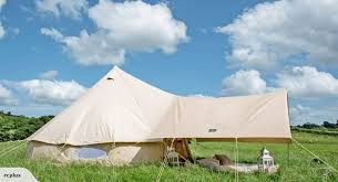 Bell Tent Awning Bell Tent 4m 3m Awning In Classic Cotton Canvas For Glamping