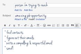 Sample Format For Sending Resume Through Email by How To Email Someone You Don U0027t Know About A Job The Prepary