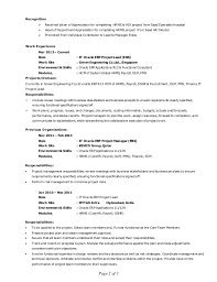 Erp Project Manager Resume It Oracle Erp Project Lead