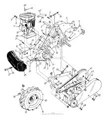 mtd 215 447 190 roto boss 550 1995 parts diagram for rear tine