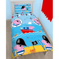 Peppa Pig Toddler Bed Set Peppa Pig And George Bedding Single Junior Duvet