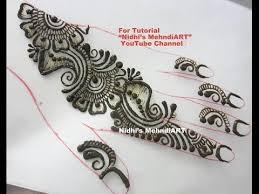 simple repeatable shaded arabic henna mehndi design tutorial