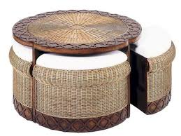 furnitures round ottoman coffee table inspirational round wicker